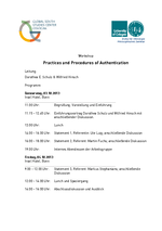 "Flyer ""Practices and Procedures of Authentication"""